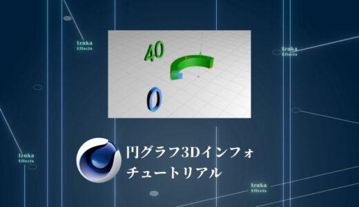 【CINEMA4Dチュートリアル】円グラフ3Dインフォグラフィックスを作る!!