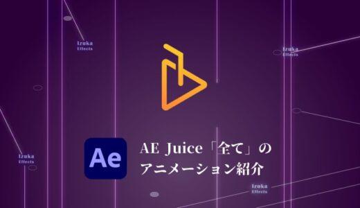 【ALL BUNDLE】AE Juiceに収録されている「全て」のアニメーションを紹介